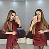 Нарядное платье мини с необычной баской и рукавами, фото 2