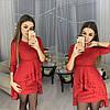 Ошатне плаття міні з незвичайною баскою і рукавами, фото 5