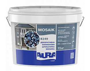 Штукатурка кварцевая AURA LUX PRO MOZAIK M15 мозаичная (зерно 1,5 мм) B249 15кг