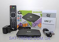 Смарт ТВ Gi UNI 2++ комбинированный эфирный android ресивер