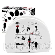 Салфетница 'Черная кошка' (длина-10см, h-8 см)