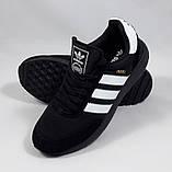 Кроссовки Мужские Adidas Iniki Runner Boost Чёрные Адидас (размеры: 41) Видео Обзор, фото 3
