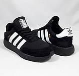 Кроссовки Мужские Adidas Iniki Runner Boost Чёрные Адидас (размеры: 41) Видео Обзор, фото 4