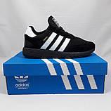 Кроссовки Мужские Adidas Iniki Runner Boost Чёрные Адидас (размеры: 41) Видео Обзор, фото 5