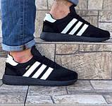 Кроссовки Мужские Adidas Iniki Runner Boost Чёрные Адидас (размеры: 41) Видео Обзор, фото 8
