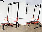 Скамья для жима регулируемая до 300 кг + силовые стойки с турником до 300 кг, фото 4