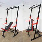 Скамья для жима регулируемая до 300 кг + силовые стойки с турником до 300 кг, фото 3