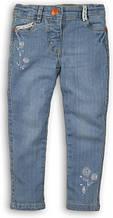 Детские голубые джинсы для девочек 7-8 лет Minoti 122-128 см