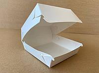 Упаковка для бургера (Белая) 102х92х60мм мини