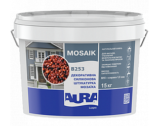 Штукатурка кварцевая AURA LUX PRO MOZAIK M15 мозаичная (зерно 1,5 мм) B253 15кг