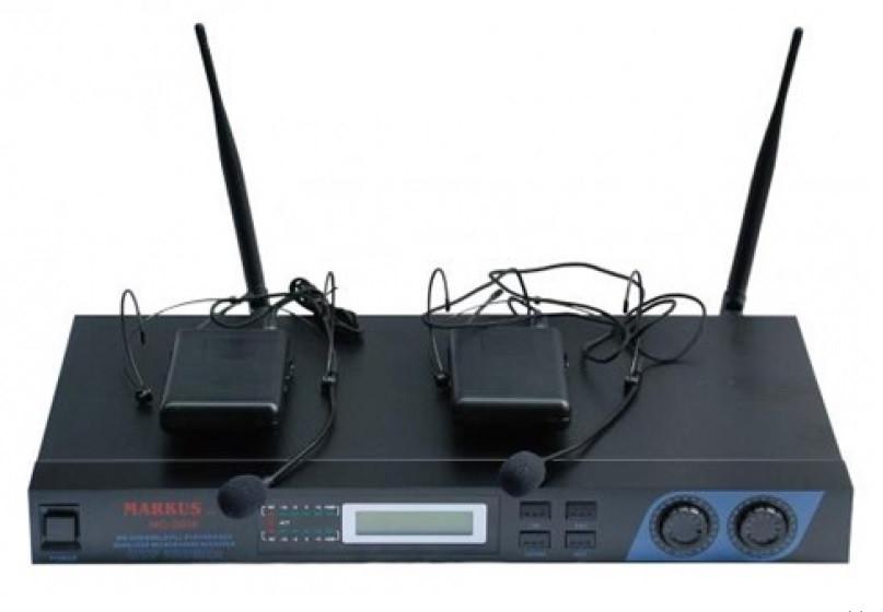 Радіосистема з наголовним мікрофоном Markus MC 2008 Headset Black