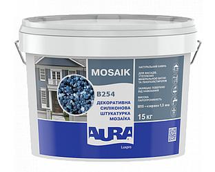 Штукатурка кварцевая AURA LUX PRO MOZAIK M15 мозаичная (зерно 1,5 мм) B254 15кг
