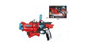 Набір зброї: бластер 23см,звук,світло,4диски,на бат-ці,у кор-ці,33х23х5см№F8508-5A (30)