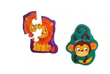 "Бебі-пазли магніт. ""Левеня та мавпочка"" №VT3208-11"