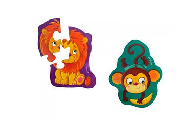 "Бебі-пазли магніт.""Левеня та мавпочка"" №VT3208-11"