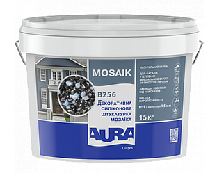 Штукатурка кварцевая AURA LUX PRO MOZAIK M15 мозаичная (зерно 1,5 мм) B256 15кг