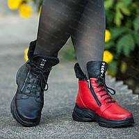 Женские зимние кожаные ботинки сапоги на полную ногу, обувь женская больших размеров от производителя