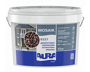 Штукатурка кварцевая AURA LUX PRO MOZAIK M15 мозаичная (зерно 1,5 мм) B257 15кг