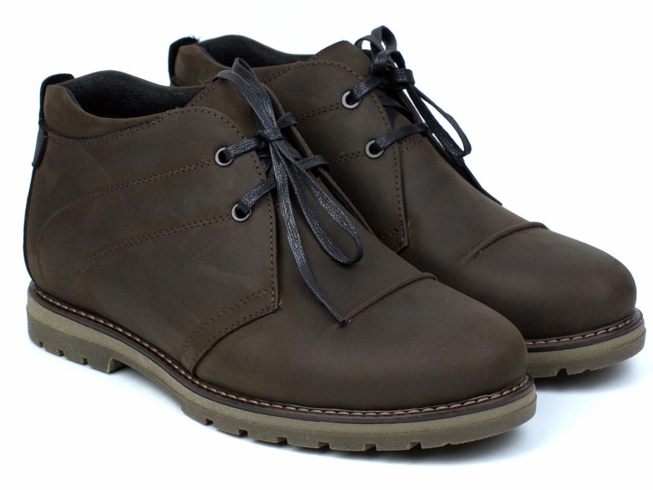 Чоботи зимові шкіряні коричневі чоловіче взуття великих розмірів Rosso Avangard WinterkingZ Brown BS