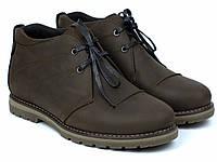 Чоботи зимові шкіряні коричневі чоловіче взуття великих розмірів Rosso Avangard WinterkingZ Brown BS, фото 1