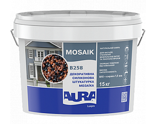 Штукатурка кварцевая AURA LUX PRO MOZAIK M15 мозаичная (зерно 1,5 мм) B258 15кг