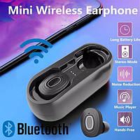 Мини-наушники V6 с Bluetooth 5,0 3D Hi-Fii стерео, с зарядным чехлом, IPX5, фото 1