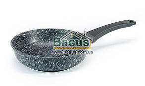 """Сковорода (d-22см, h-5,5см) серебристо-белая с антипригарным покрытием без крышки """"Elite"""" Биол (2216P)"""