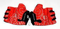 Перчатки велосипедные Sedona, без пальцев, красные, размер M