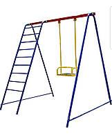 Качели детские уличные с лестницей. Игровой комплекс., фото 1