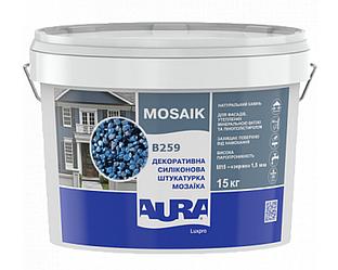 Штукатурка кварцевая AURA LUX PRO MOZAIK M15 мозаичная (зерно 1,5 мм) B259 15кг