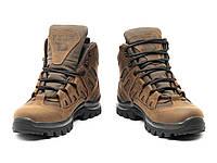 Мужские водостойкие тактические ботинки на мембране кожаные, МБС подошва 4д коричневые, фото 1