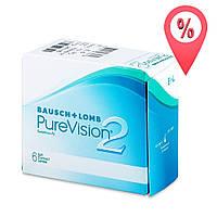Контактные линзы PureVision 2 Bausch+Lomb 6 шт