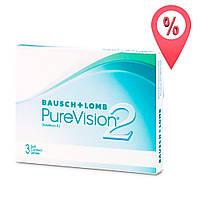 Контактные линзы PureVision 2 Bausch+Lomb 3 шт
