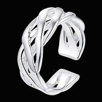 Стильное кольцо в серебре 925, безразмерное Корнелия, фото 1
