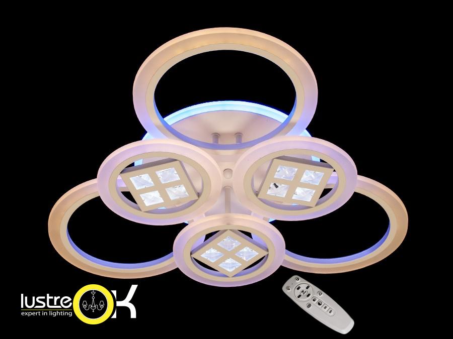 Люстра светодиодная потолочная AD8200/3+3 LED 3color dimmer