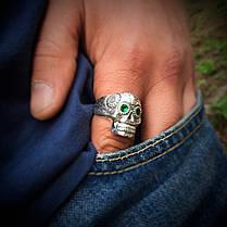 Серебряное кольцо Череп (Йорик), фото 2