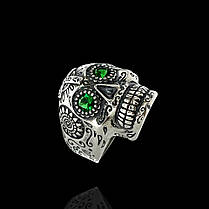 Серебряное кольцо Череп (Йорик), фото 3