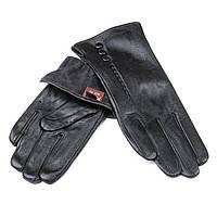 Перчатка Женская кожа F24/19-1 мод 1 black флис. Купить перчатки оптом в Украине по выгодным ценам