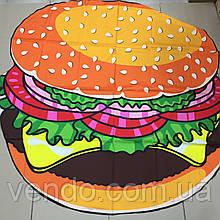 Пляжный коврик Гамбургер 140х140 см