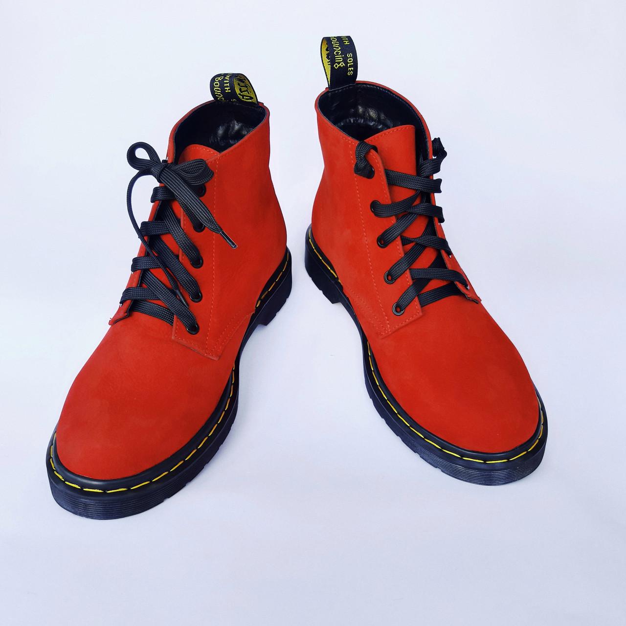 Мартінси жіночі червоні черевики INSHOES