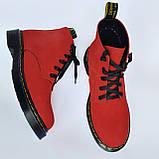 Мартінси жіночі червоні черевики INSHOES, фото 2