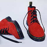 Мартінси жіночі червоні черевики INSHOES, фото 5