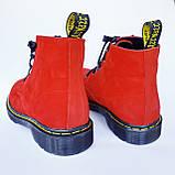 Мартінси жіночі червоні черевики INSHOES, фото 3