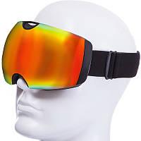 Горнолыжная маска-очки для сноуборда и лыж Лыжные очки зеркальные SPOSUNE Красные линзы (HX036)