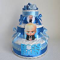 Подарок из памперсов на рождение ребенка BabyBoss 60 шт.