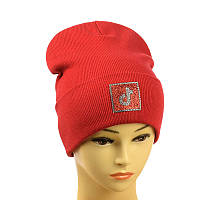 """Дитячо-підлітковий шапка """"Tik-Tok"""" червоний"""