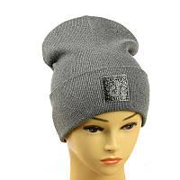 """Молодіжна шапка """"Tik-Tok"""" сірий"""