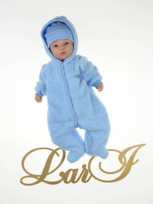 Теплый комбинезон для мальчика Пушистик голубой