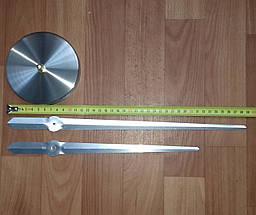 3D Часы настенные 100 см Римские серебристые зеркальные наклейки стикеры большие [Пластик], фото 3