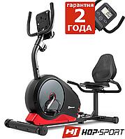 Горизонтальний велотренажер Hop-Sport HS-040L Root Gray/Red